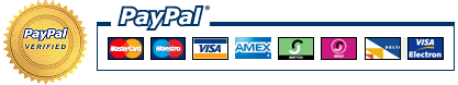 PayPal verified. All major credit cards accepted.