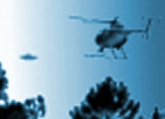 Police helicopter chases UFO