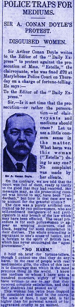Conan Doyle Daily Express clipping